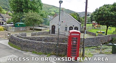 access to brookside play area