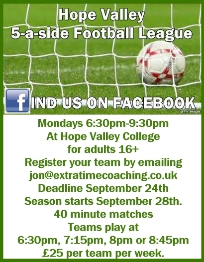hope valley 5 a side footy