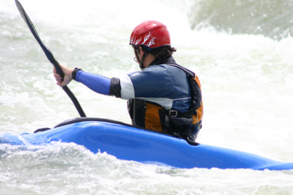 kayak on rapids